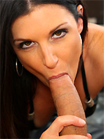 India Summer kneels to suck the handyman's tool