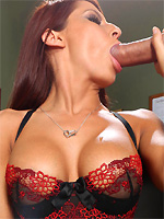 Madison Ivy devours his huge cock in her office